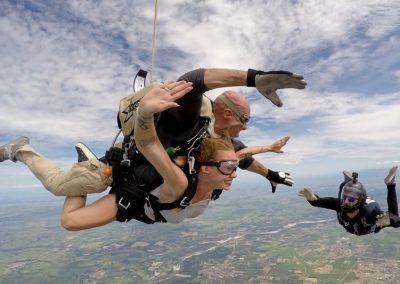 paracadutismo in tandem con istruttore